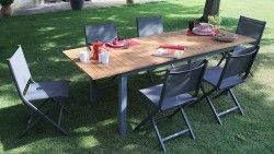 Table EVORA 160/220  TABLES DE JARDIN