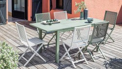 Table TRIESTE 110/170  AlizéTABLES DE JARDIN